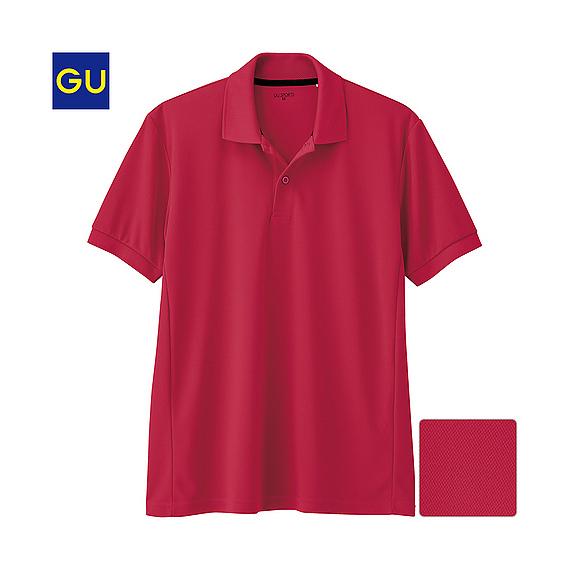 (GU)スポーツポロシャツ(半袖)A