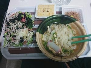 野菜とうどんと豆腐と納豆