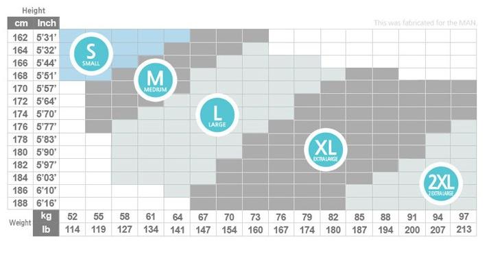 コンプレッションタイツ サイズ表