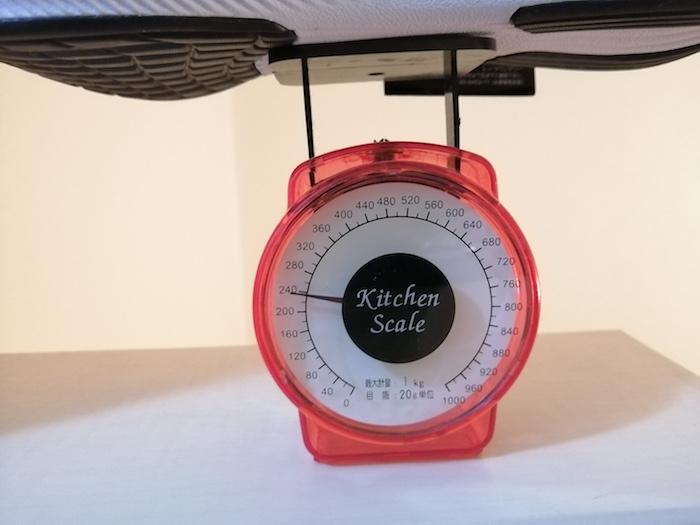 ズームフライ3(厚底ランニングシューズ)重さ計測