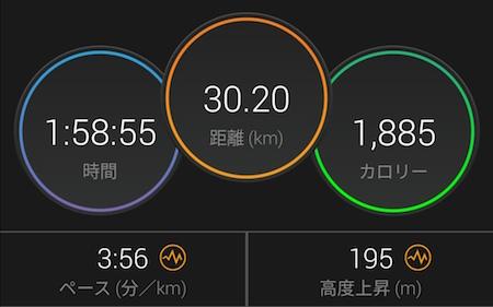 青梅マラソン_30km記録