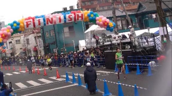 青梅マラソンゴール地点